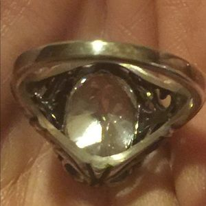 Vintage Jewelry - Vintage Kabana Sterling Silver CZ Ring 8 3/4